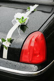μαύρος γάμος limousine Στοκ Εικόνα