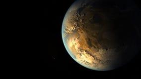 μαύρος γήινος πλανήτης Τα στοιχεία αυτής της εικόνας εφοδιάζονται από τη NASA Στοκ Εικόνες