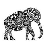 Μαύρος εθνικός ελέφαντας απεικόνιση αποθεμάτων