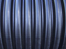 Μαύρος ζαρωμένος σωλήνας Στοκ Φωτογραφία
