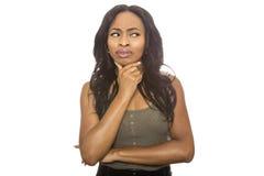 Μαύρος θηλυκός αμφισβητήσιμος Στοκ εικόνες με δικαίωμα ελεύθερης χρήσης