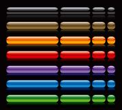 μαύρος Ιστός κουμπιών Στοκ Εικόνες