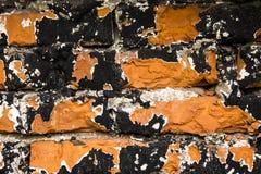 Μαύρος και τούβλινος τοίχος Στοκ Εικόνες