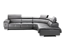 μαύρος καναπές δέρματος Στοκ εικόνες με δικαίωμα ελεύθερης χρήσης