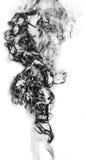 Μαύρος καπνός φαντασίας στο άσπρο υπόβαθρο Στοκ Εικόνα