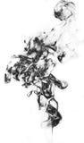 Μαύρος καπνός φαντασίας στο άσπρο υπόβαθρο Στοκ εικόνες με δικαίωμα ελεύθερης χρήσης