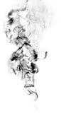 Μαύρος καπνός φαντασίας στο άσπρο υπόβαθρο Στοκ Εικόνες