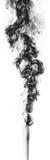 Μαύρος καπνός φαντασίας στο άσπρο υπόβαθρο Στοκ εικόνα με δικαίωμα ελεύθερης χρήσης
