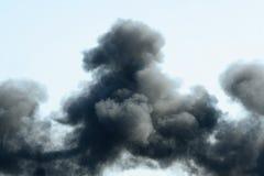 μαύρος καπνός Στοκ Φωτογραφία