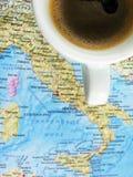μαύρος καφές Ιταλία έλξης Στοκ Φωτογραφία