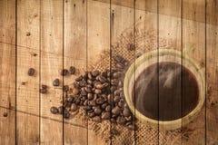 μαύρος καφές καυτός Στοκ εικόνα με δικαίωμα ελεύθερης χρήσης