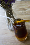 Μαύρος καφές με το λεμόνι Στοκ εικόνα με δικαίωμα ελεύθερης χρήσης
