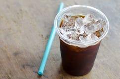 Μαύρος καφές πάγου Στοκ Εικόνες