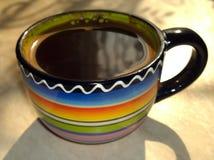 Μαύρος καφές σε ένα φλυτζάνι Στοκ Εικόνα