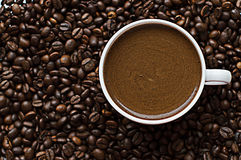 Μαύρος καφές σιταριού Στοκ Εικόνα
