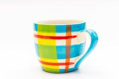 μαύρος καφές στην κούπα καφέ χρώματος Στοκ εικόνες με δικαίωμα ελεύθερης χρήσης