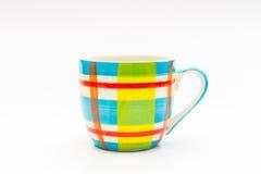 μαύρος καφές στην κούπα καφέ χρώματος Στοκ Εικόνες
