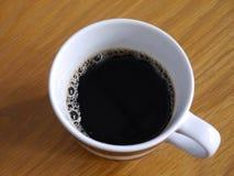 Μαύρος καφές, τοπ άποψη Στοκ Φωτογραφίες