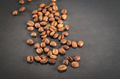 μαύρος καφές φασολιών ανασκόπησης Στοκ Εικόνα