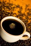 μαύρος καφές Στοκ Φωτογραφίες