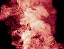 μαύρος κόκκινος καπνός αν&a Στοκ Εικόνες