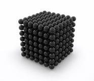 μαύρος κύβος neodym Στοκ εικόνα με δικαίωμα ελεύθερης χρήσης