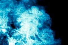 μαύρος μπλε καπνός ανασκόπησης Στοκ εικόνες με δικαίωμα ελεύθερης χρήσης