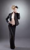 μαύρος ξανθός γυμνός προκ&lam Στοκ Φωτογραφία