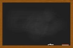 Μαύρος πίνακας κιμωλίας στην ξύλινη σύσταση πλαισίων Στοκ φωτογραφίες με δικαίωμα ελεύθερης χρήσης