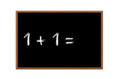 Μαύρος πίνακας κιμωλίας Math Στοκ φωτογραφία με δικαίωμα ελεύθερης χρήσης
