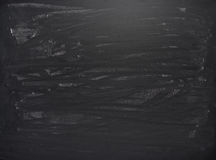 Μαύρος πίνακας με τα ίχνη κιμωλίας Στοκ Εικόνες