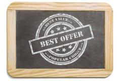 Μαύρος πίνακας με το βαλμένο σε στρώσεις μήνυμα κιμωλίας στοκ εικόνα