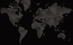 Μαύρος παγκόσμιος χάρτης για Infographics Αφηρημένος διανυσματικός χάρτης απεικόνιση αποθεμάτων