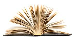 μαύρος παλαιός ανοικτός βιβλίων Στοκ Εικόνα