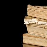 μαύρος παλαιός σωρός βιβλίων Στοκ Φωτογραφία