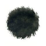 Μαύρος παφλασμός κύκλων watercolor στο άσπρο υπόβαθρο διανυσματική απεικόνιση