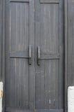μαύρος παλαιός ξύλινος π&omicron Στοκ Εικόνα