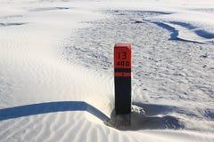 Μαύρος πόλος 13 400, παραλία Ameland, Ολλανδία παραλιών Στοκ Εικόνες