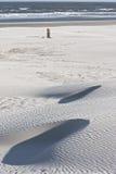 Μαύρος πόλος 14 200, παραλία Ameland, Ολλανδία παραλιών Στοκ εικόνες με δικαίωμα ελεύθερης χρήσης