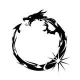 μαύρος δράκος διανυσματική απεικόνιση