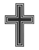 μαύρος σταυρός Στοκ Φωτογραφία