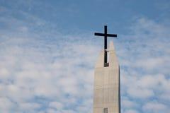 μαύρος σταυρός Στοκ Εικόνες