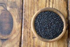 Μαύρος στενός επάνω σουσαμιού στοκ εικόνες