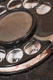 μαύρος στενός τηλεφωνικός περιστροφικός επάνω πινάκων στοκ φωτογραφία με δικαίωμα ελεύθερης χρήσης