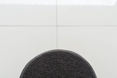 Μαύρος τάπητας στη τοπ γωνία πατωμάτων σπιτιών Στοκ φωτογραφίες με δικαίωμα ελεύθερης χρήσης