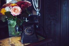 μαύρος τηλεφωνικός περι&sigm Στοκ Εικόνες