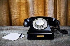 μαύρος τηλεφωνικός τρύγο&s Στοκ Φωτογραφίες