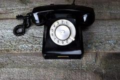 μαύρος τηλεφωνικός τρύγο&s Στοκ φωτογραφίες με δικαίωμα ελεύθερης χρήσης