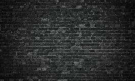 Μαύρος τουβλότοιχος, υπόβαθρο πλινθοδομής για το σχέδιο Στοκ εικόνες με δικαίωμα ελεύθερης χρήσης