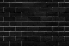 Μαύρος τουβλότοιχος για το υπόβαθρο Στοκ Φωτογραφία